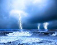 Storm och åska Fotografering för Bildbyråer