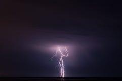 Storm och blixt Arkivbilder