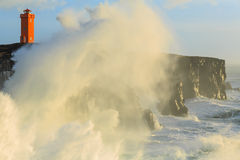 Storm off the coast of Iceland Royalty Free Stock Photos