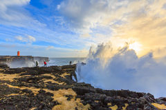 Storm off the coast of Iceland Royalty Free Stock Image