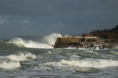 Storm. Off the coast of Santander Stock Photo