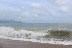 storm onde Mer Photo stock