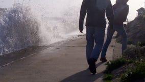 Storm Ophelia reaches Cornwall UK stock photography