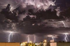 Storm ovanför Zagreb Arkivbilder