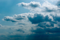 Storm over Addo. Deep Blue clouds in Addo with a Storm approaching Royalty Free Stock Photo