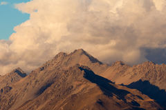 Storm over alpinre tundra mountain ridges Royalty Free Stock Photos