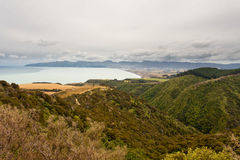Storm over beautiful landscape of Palliser Bay, NZ Royalty Free Stock Images
