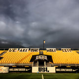 Storm over Blackbaud Stadium before soccer game. Royalty Free Stock Images