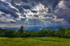 Storm over Blue Ridge Mountains Royalty Free Stock Photography
