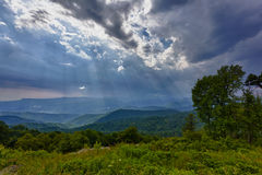 Storm over Blue Ridge Mountains Royalty Free Stock Photo
