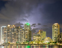 Storm over the Brickell Key Stock Photography