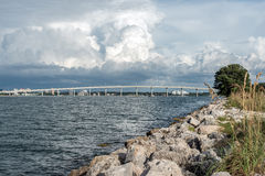 Storm Over Bridge Royalty Free Stock Images