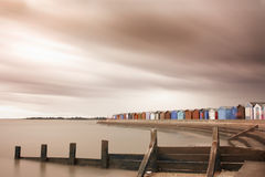 Storm over brightlingsea beach in essex Royalty Free Stock Photos