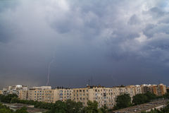 Storm over Bucharest City Royalty Free Stock Images