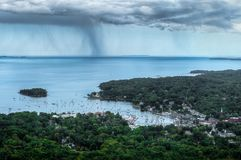 Storm Over Camden Maine Stock Image
