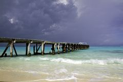 Storm over Cancun Stock Photography