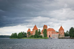 Storm over Castle Royalty Free Stock Photography