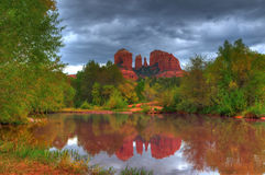Storm over Cathedral Rock Stock Images