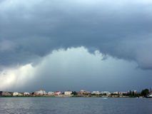 Storm over the city. Astrakhan, Russia Stock Photography