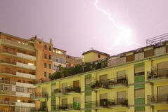 Storm over the city of palermo 02 Royalty Free Stock Images