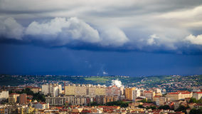Storm over the city of Trieste Stock Photography
