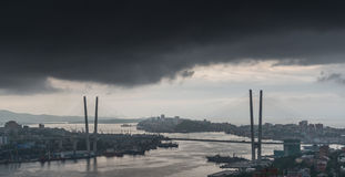 Storm over city. Royalty Free Stock Photo
