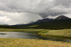 Storm over Collegiate Peaks. Stormy weather over the Collegiate Peaks wilderness in Colorado Royalty Free Stock Image