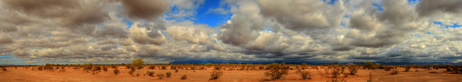 Storm over the Desert Stock Photo