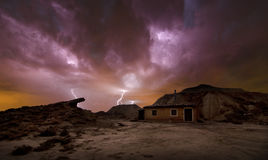 Storm over the desert Royalty Free Stock Images