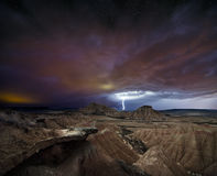 Storm over the desert Royalty Free Stock Photo