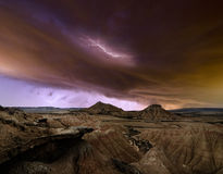 Storm over the desert Stock Photos