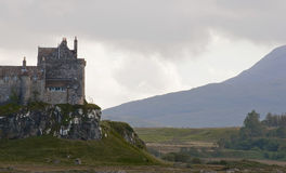 A storm over duart castle on the isle of mull Royalty Free Stock Photography