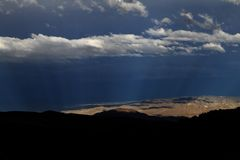 Storm over the Eastern Sierra Nevada Stock Images