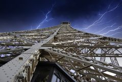 Storm over Eiffel Tower Stock Photography