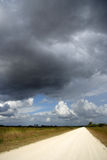 Storm Over the Everglades. Storm clouds over the scenic Wagon Wheel Road in the Florida Everglades, Big Cypress National Preserve Royalty Free Stock Photos