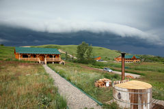 Storm over farm Royalty Free Stock Photography