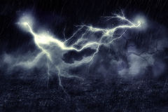 Storm over Field Stock Photography