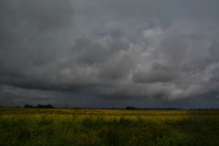 Storm over fields Stock Photo