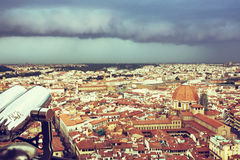 Storm over the Florence city, Tuscany, Italy Stock Image