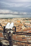 Storm over the Florence city, Tuscany, Italy Royalty Free Stock Photos