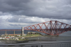 Storm over Forth bridge - Scotland Royalty Free Stock Photography