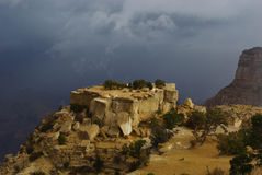 Storm over Grand Canyon, Arizona Stock Photo