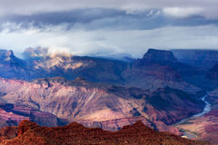 Storm over Grand Canyon royalty free stock image