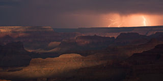 Storm over Grand Canyon Stock Photography