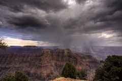 Storm Over Grand Canyon royalty free stock images