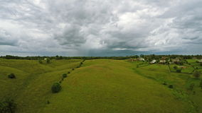 Storm over Kentucky countryside stock footage