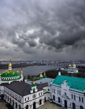 Storm over the Kiev city Royalty Free Stock Photos