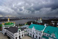 Storm over the Kiev city Royalty Free Stock Image