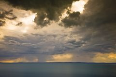 Storm over the lake Balaton Stock Images