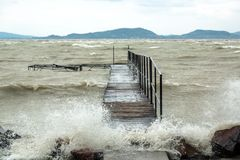 Storm over the lake Royalty Free Stock Images